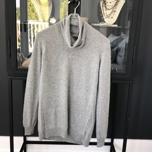 Theory cashmere cowl neck sweater